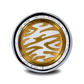 LOCKits Goudkleurige Dierenprint Munt met Zirkonia's 33mm