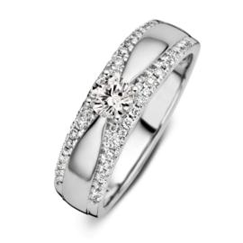 Excellent Jewelry Witgouden Ring met 0,52 crt. Briljant