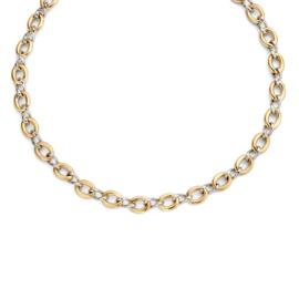 Excellent Jewelry Stevig Bicolor Schakelcollier