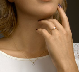 14k Gouden Ring made diamond 0,25ct F VSI