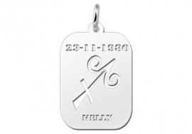 Names4ever Astrologie Boogschutter Zilver Hanger ZHS009