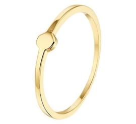 14k Gouden Dames Ring met Rondje