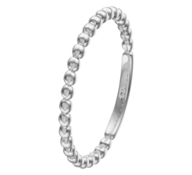 Bolletjes Ring van Gepolijst Witgoud