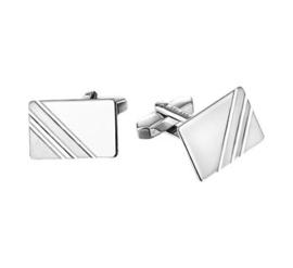 Rechthoekige Moderne Manchetknopen van Gerhodineerd Zilver