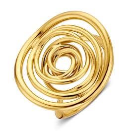 Excellent Jewelry Geelgouden Ring met Twister Kopstuk