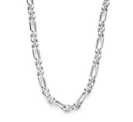 Zilveren Dames Collier Anker 6,7 mm 45 cm