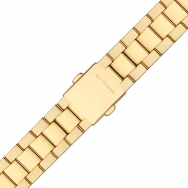 MY iMenso Quartz Mat/Gepolijste Horlogeband / Goud