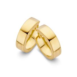 Excellent Jewelry Brede Vlakke Creolen van Geelgoud