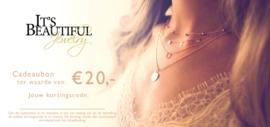 Cadeaubon t.w.v. € 20,00 + Gratis sieraad!