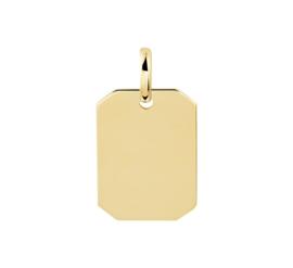 Tag Necklace Gold | Graveer Hanger van 14 Karaats Goud