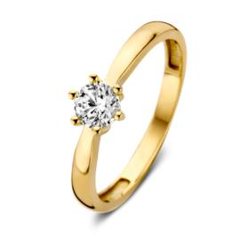 Excellent Jewelry Bolstaande Gouden Ring met Zirkonia