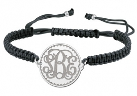 Zilveren Solide Monogram Armband ZNA09 > Names4ever