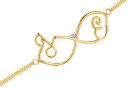 Geelgouden Infinity Initiaal Armband van Nomelli