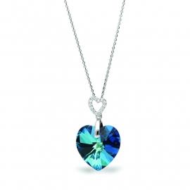 Tender Heart Blauwe Swarovski Ketting van Spark Jewelry