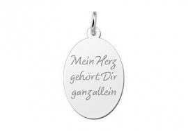Names4ever Zilveren Ovale Graveer Hanger met eigen tekst