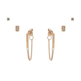 Karma Jewelry – Zesdelige I Am Gold Earparty Set - Rosé