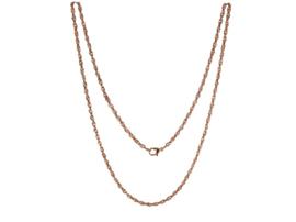 Roségoudkleurig Edelstalen LOCKits Collier 60cm