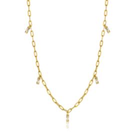 Goudkleurige Glow Drop Necklace van Ania Haie