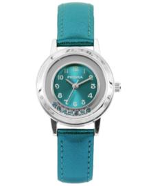 Dazzling Diamonds Aquablauwe Kids Horloge met Aquablauwe Horlogeband