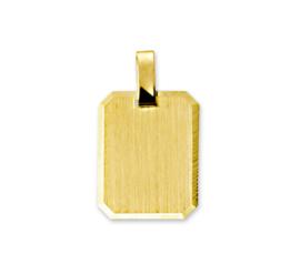 Rechthoekige Gouden Graveerhanger met Gepolijste Rand