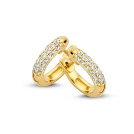 Excellent Jewelry Geelgouden Creolen met 0,32 crt. Briljanten