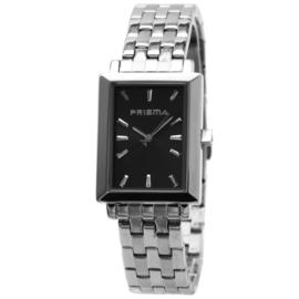 Rechthoekig Prisma Heren Horloge met Zwarte Wijzerplaat