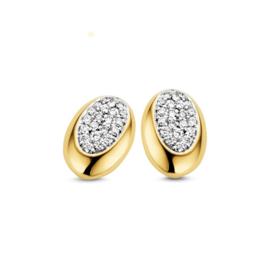 Excellent Jewelry Bicolor Ovaalvormige Briljanten Oorstekers