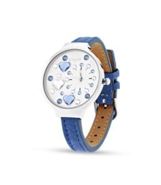 Heart Horloge van Spark met Blauwe Horlogeband