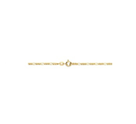 Goudkleurige Collier figaro 2,2 mm 50 cm
