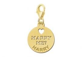 Names4ever Gouden Marry Me Bedel met Naam