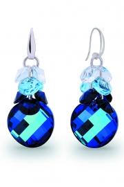 Luna Dives Blauwe Swarovski Oorbellen van Spark Jewelry
