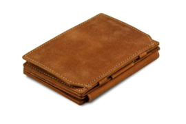 Camel Bruine Magic Coin Wallet van Magistrale Garzini