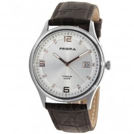 Prisma Horloge P.1728 Heren Titanium Saffierglas