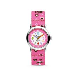 Roze Hartjes en Katjes Horloge voor Kids van Colori Junior