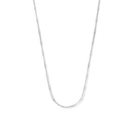 Dames Collier Buisjes Zilver 1,3 mm 40 + 4 cm
