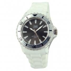 Horloge met wit rubberen band / Q&Q Horloge