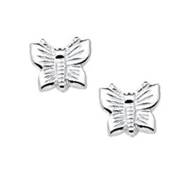 Gedetailleerde Vlinder Oorknoppen van Zilver