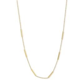 Excellent Jewelry Geelgouden Collier met Staafjes