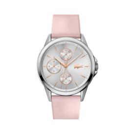 Lacoste Zilverkleurig Florence Horloge met Roze Band