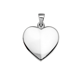 Hartvormig Foto Medaillon van Zilver