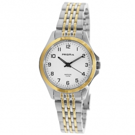 Prisma Horloge P.1552 All Stainless Steel Saffierglas