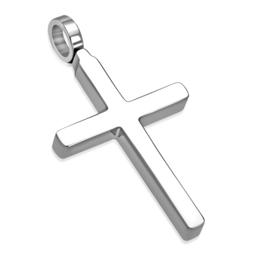 Edelstalen Basic Kruis Hanger