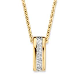 Excellent Jewelry Geelgouden Collier met Briljant Hanger