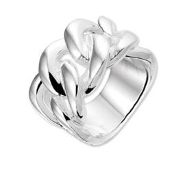 Schakel Ring van Zilver Maat 19,7 | Sale ringen