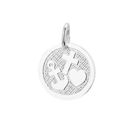 Ronde Geloof – Hoop – Liefde Hanger van Zilver