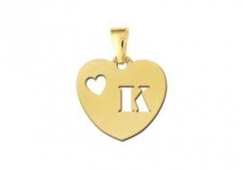 Names4ever Gouden Hart Hanger met Letter