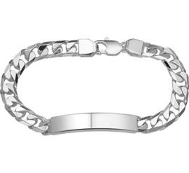 Graveer Armband Gourmet Plaat 8 mm | Lengte 22 cm