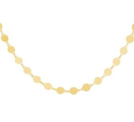 Goudkleurig Rondjes Collier van Zilver voor Dames