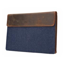 The Rat Pack Laptop Sleeve 17'' met Bruine Kleur en Jeans OF 679 – 17 inch