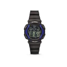 Zwart met Blauw Digitaal KIDZ Horloge van Colori Junior